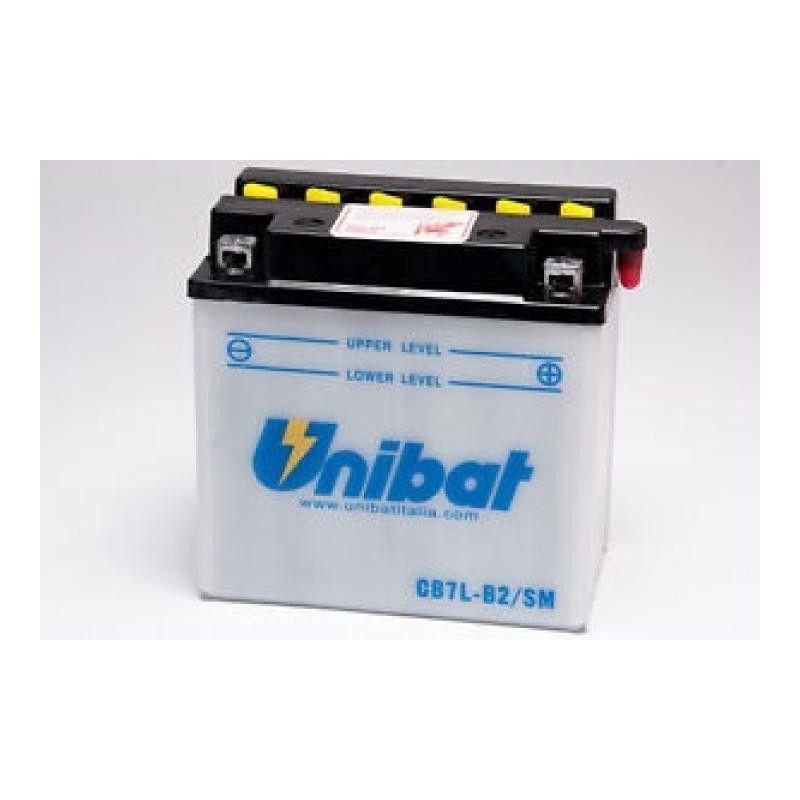 Bateria Moto Unibat Cb7l-B2-Sm/ Yb7l-B2/ Cb7l-B2