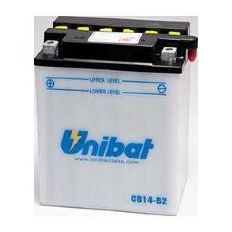 Bateria moto unibat cb14-b2-sm/ yb14-a2/ cb14-a2