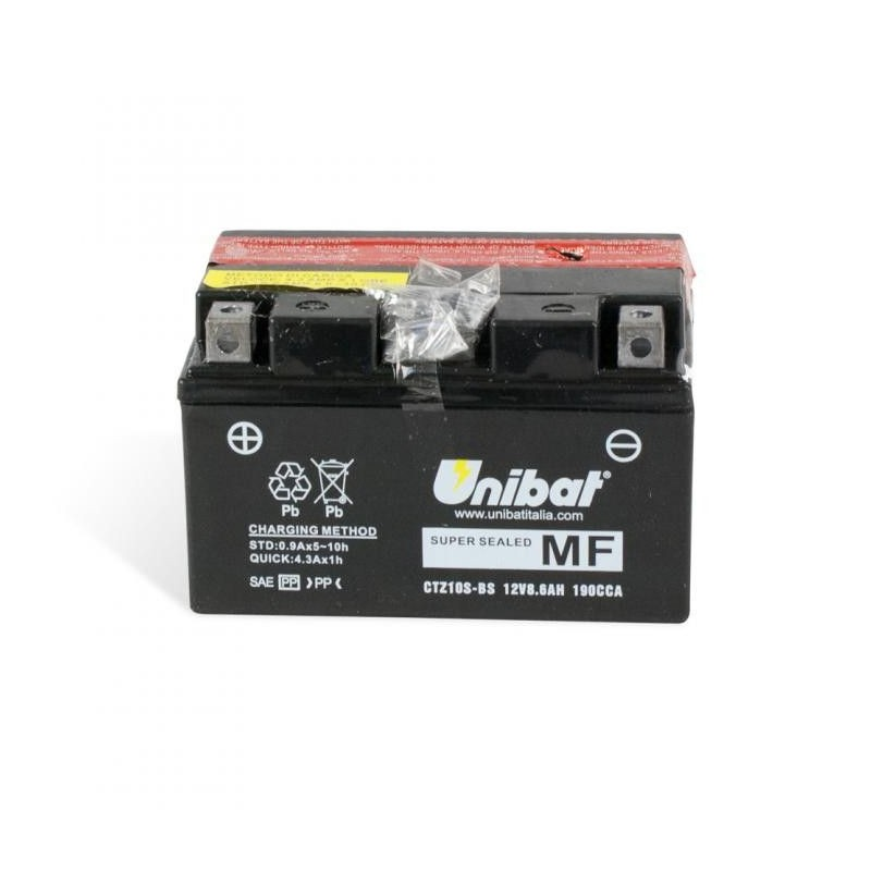 Bateria moto unibat ctz10s-bs/ tz10s-bs/ ytz10-s/ gtz10s