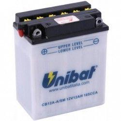 Bateria moto unibat cb12a-a-sm/ yb12a-a/ cb12a-a
