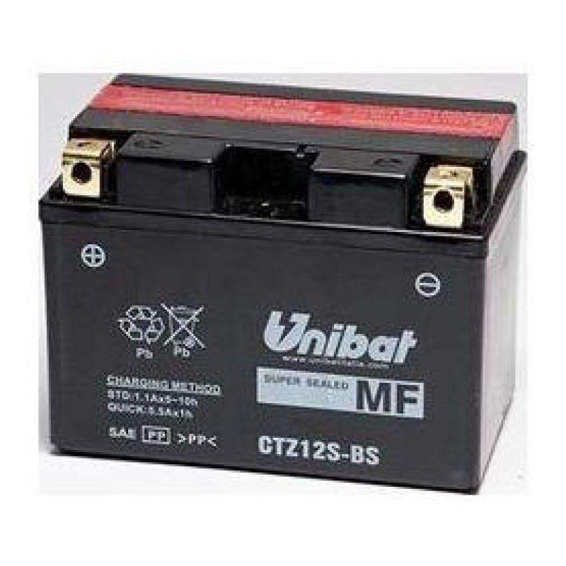 Bateria moto unibat ctz12s-bs/ ytz12-s/ gtz12s