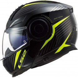 LS2 Casco de moto FF902 SCOPE SKID BLACK H-V YELLOW Negro/Amarillo